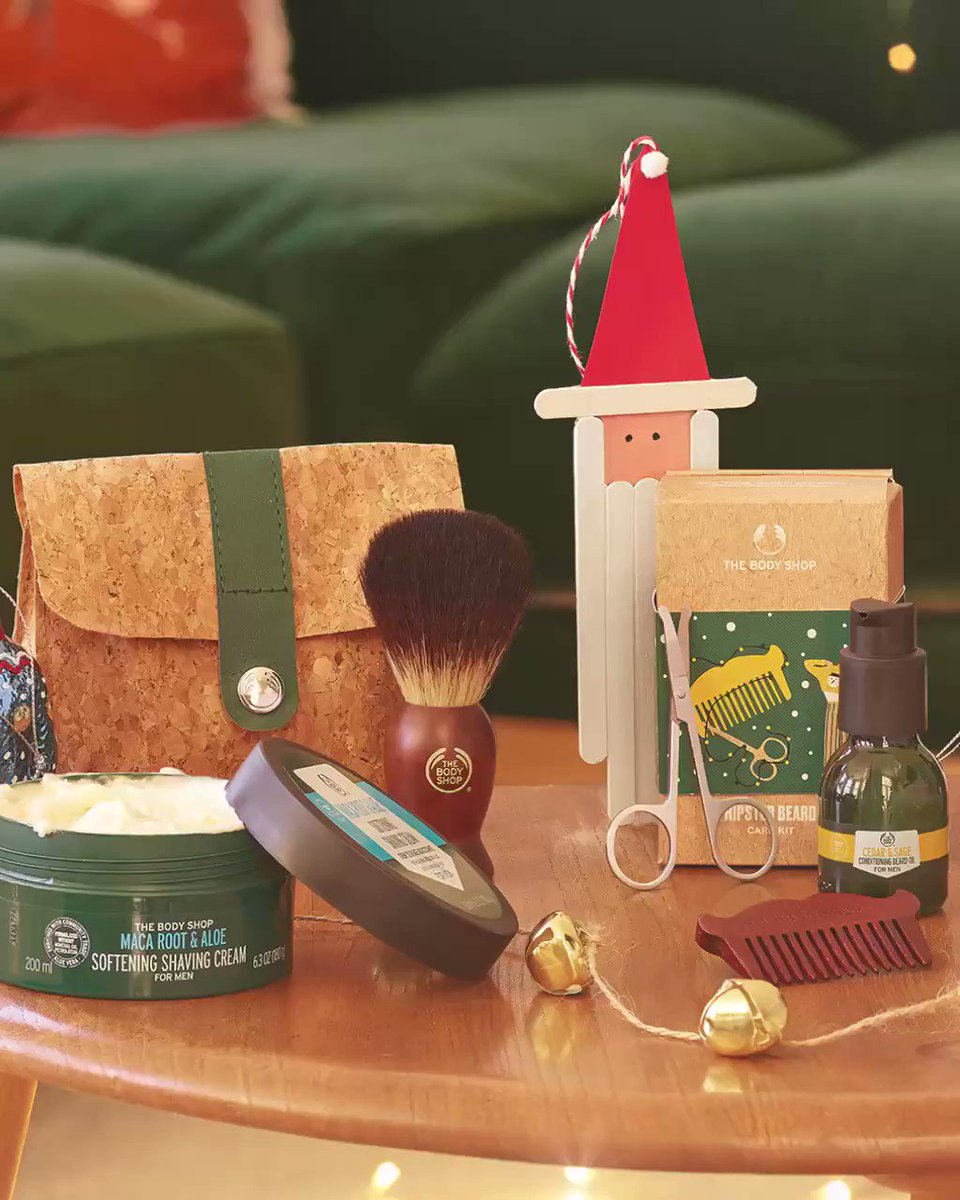 Bring your special man a luxurious personal care routine! Choose from our wide range of men's grooming products packaged in sustainable gift boxes. Shop Online, in-store or home delivery call +917042004412 #TheBodyShopIndia #TBSInd #XMasAtTheBodyShop #MakeItRealTogether
