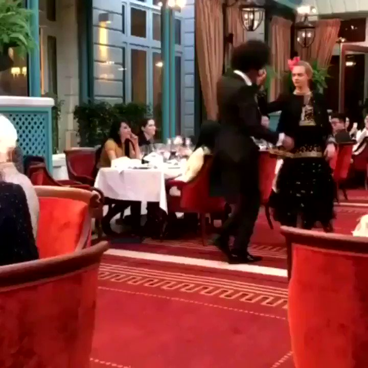 @CHANEL @CHANEL Back over to #ChanelMetiersdArt 2017, presented Dec. 6, 2016, with stunning @Caradelevingne & @offlestwins Laurent, at @_RitzParis filmed by @AndreaJanke @AJShowroom  |  #Chanel #ChanelCruise #ChanelbyAJ - enjoy! Yours, Andréa