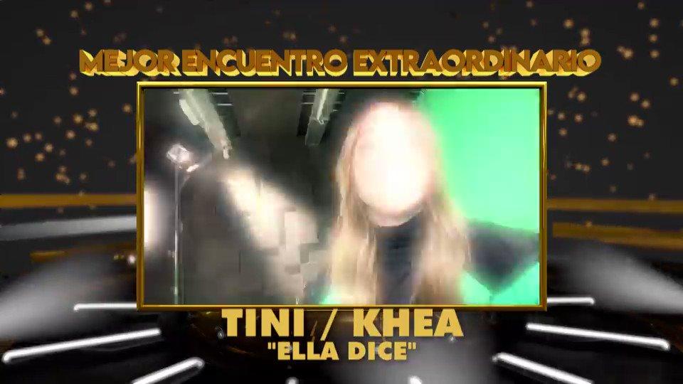 """Tini y Khea x #PremiosQuiero2020 ganadores del """"#MejorEncuentroExtraordinario"""""""