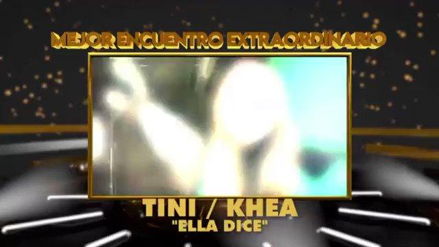 "#INFO | @TiniStoessel et @kheayf ont gagné la catégorie ""Mejor Encuentro Extraordinario"" aux #PremiosQuiero2020 avec la chanson #EllaDice !"