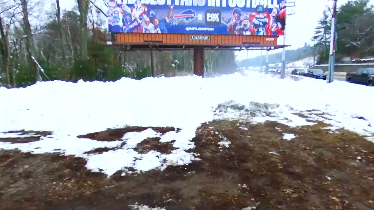How beautiful is this billboard in the heart of Patriots country? We ARE the best fans in football! LET'S GO BUFFALO! #billsmafia @NFLonFOX @SalSports @JeremyWGR @hsimon62  Video Cred: Myself. 🎥