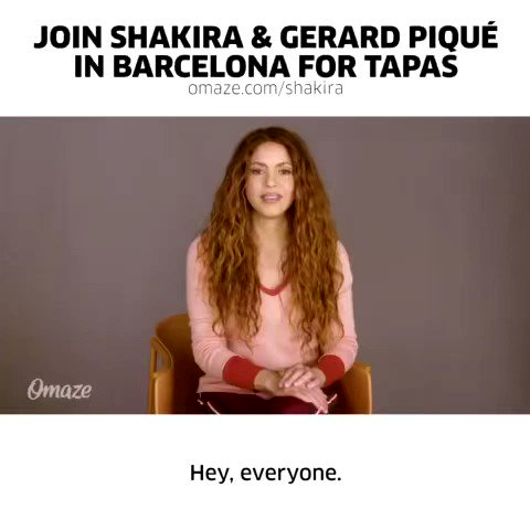 . @shakira and I want YOU to join us in Barcelona for tapas when it's safe to travel! Go to  to enter and show your support for Shakira's foundation Pies Descalzos. #omaze @omaze