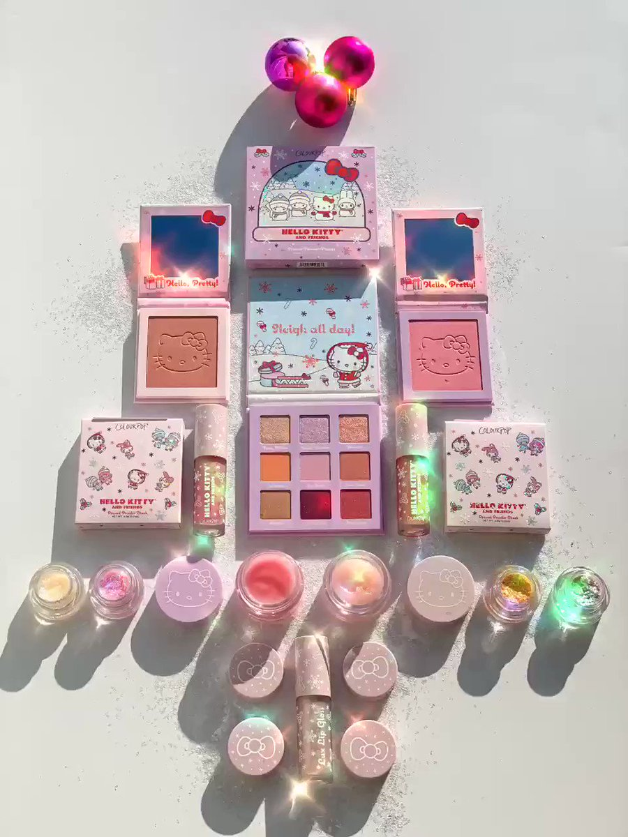Hello Kitty Christmas Tree 🎄 @ColourPopCo @hellokitty @ultabeauty #colourpop #colourpopme #colourpopcosmetics #HelloKitty #ulta #ultabeauty #sanrio