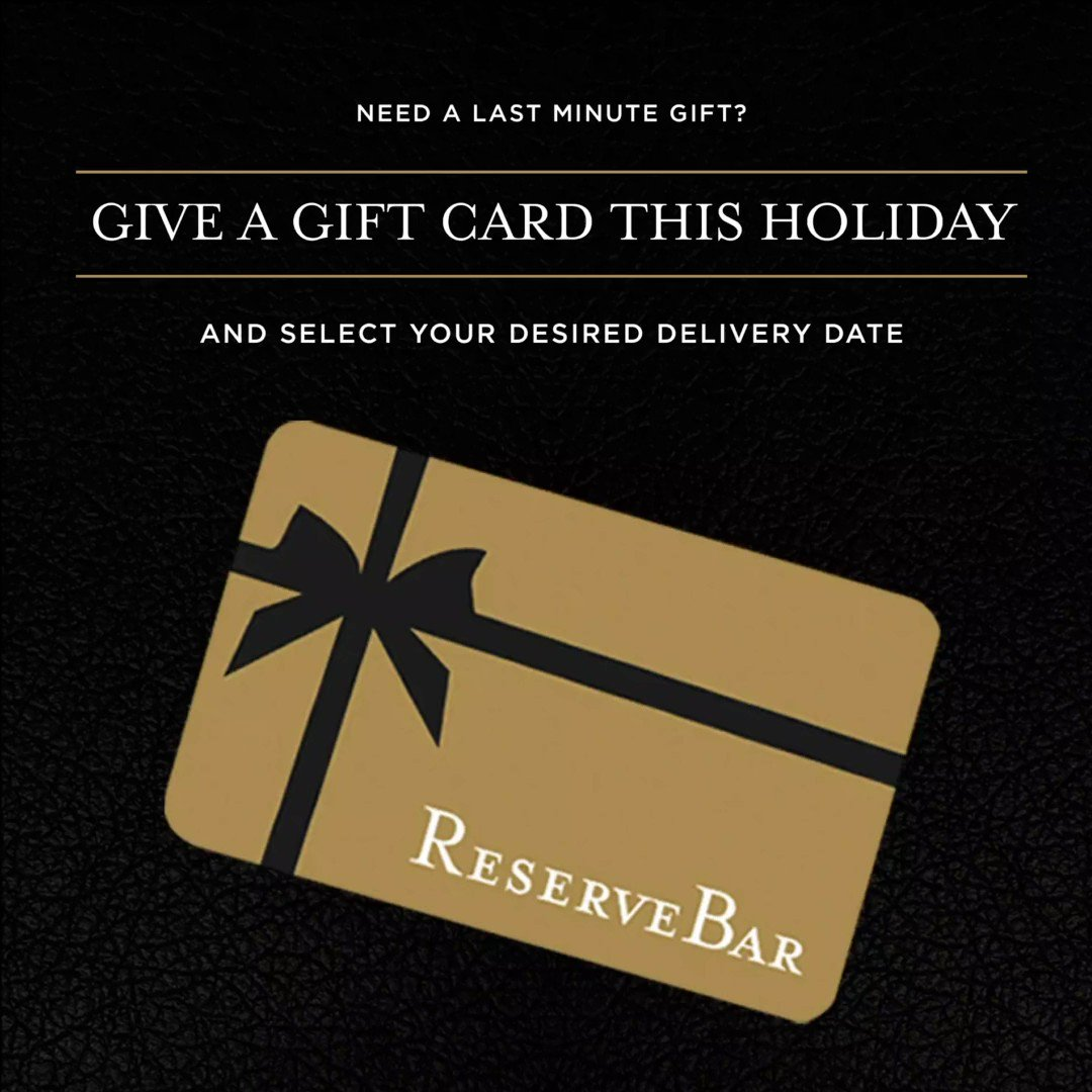 It's never too late to send an e-gift card! Shop ReserveBar now before this holiday season is over. Shop now: