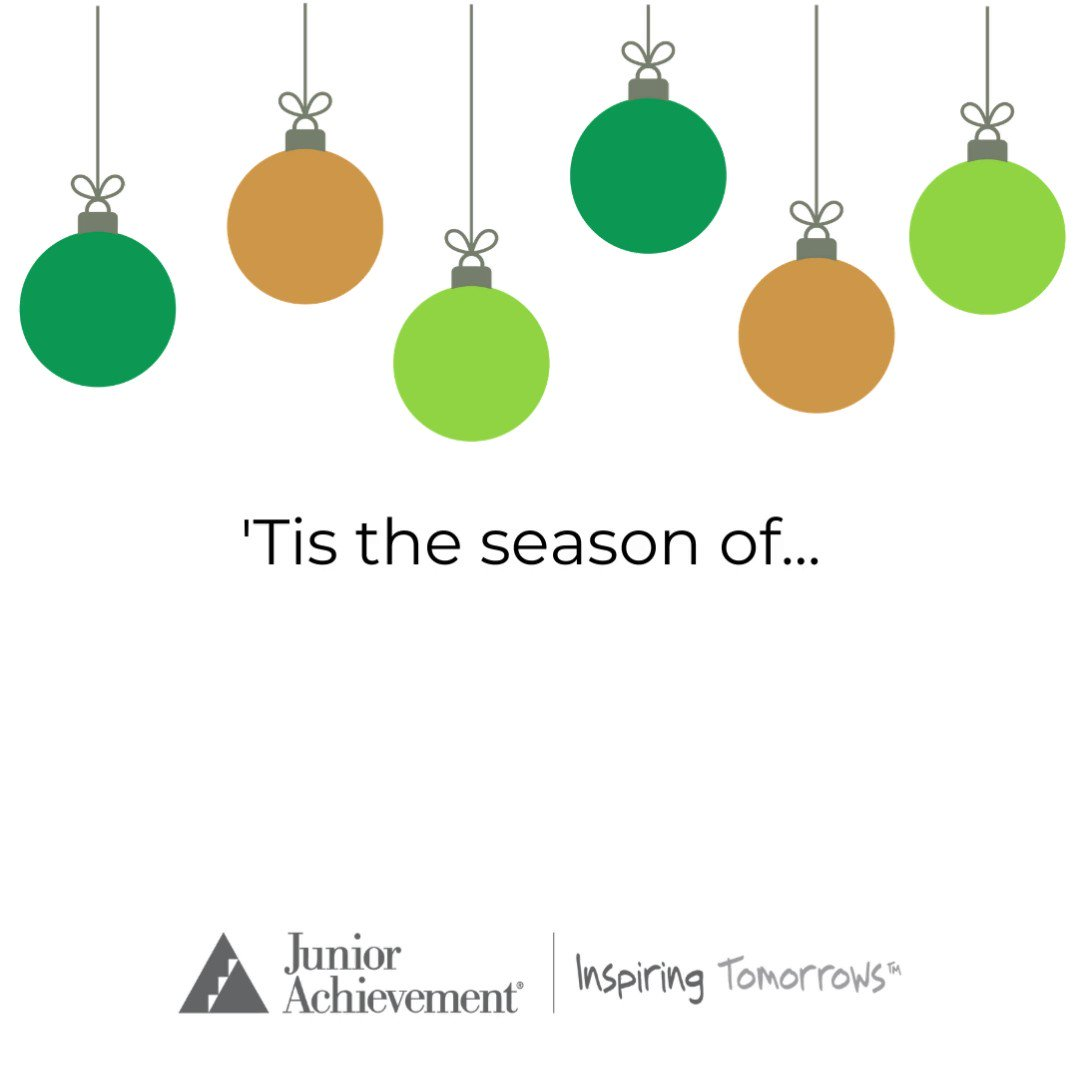 'Tis the season to give! This season, consider #giving to JA to make an impact on K-12 students in your community. You can make a donation here,   #GiveKnowledge #InspireTomorrows #UnleashGenerosity