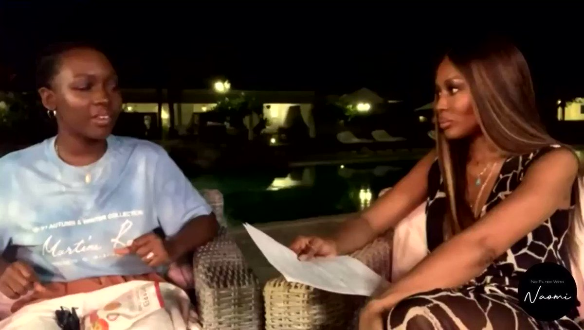 @osoroKE Watch @NaomiCampbell and I on #NoFilterWithNaomi ♥️ where I spoke about my journey