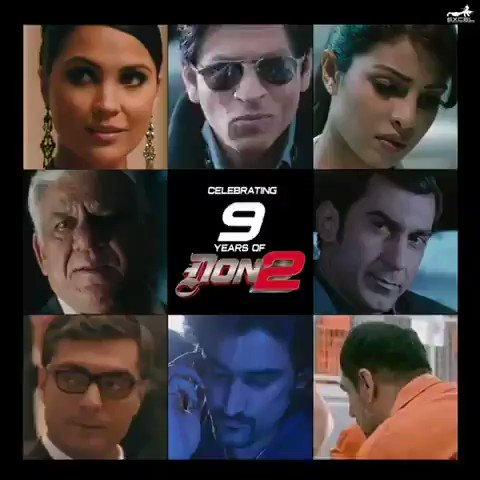 #9YearsOfDon2 - The Chase Is Still On...  @FarOutAkhtar @iamsrk @priyankachopra @LaraDutta @bomanirani @kapoorkkunal @ritesh_sid @excelmovies @Javedakhtarjadu @ShankarEhsanLoy @RelianceEnt @TSeries #OmPuri #JasonWest #9YearsOfDon2