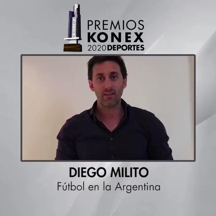 ⚽Diego Milito obtuvo el Diploma al Mérito de los #PremiosKonex 2020 como uno de los mejores Futbolistas en la #Argentina de la última década.   🏆Compartimos sus palabras tras recibir el reconocimiento  Su bio en nuestra web 👇   #Futbol #Soccer #Football