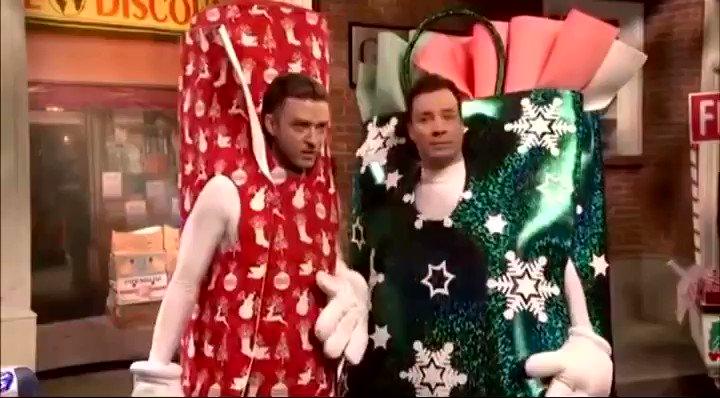 """Replying to @jimmyfallon: 2 more sleeps til Christmas!!! Can you """"handle"""" it?!?! @jtimberlake @nbcsnl"""