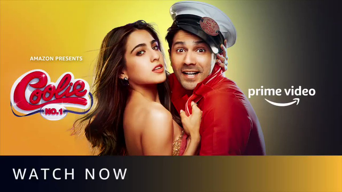Bringing in my birthday watching the premier of #CoolieNo1 with the family, this day couldn't get any better! So grateful🙏 #CoolieNo1OnPrime, watch now.   @Varun_dvn #SaraAliKhan #DavidDhawan @vashubhagnani @honeybhagnani @poojafilms