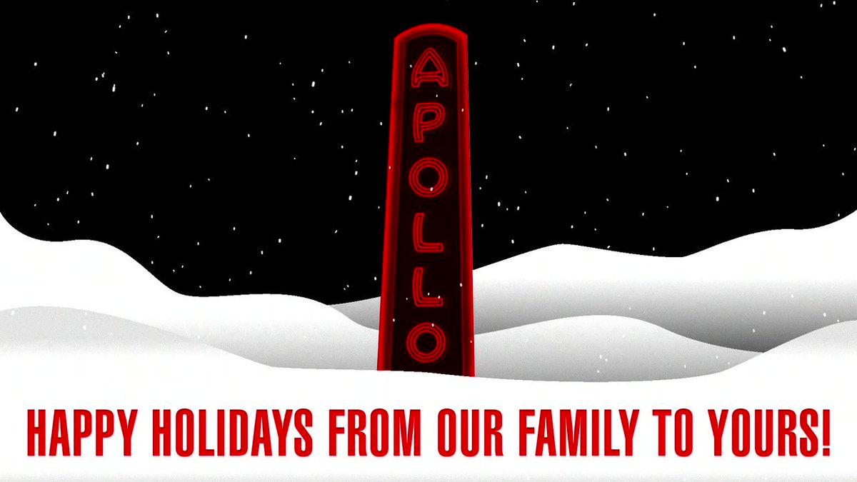 Replying to @ApolloTheater: Happy Holidays #ApolloFam 🎁