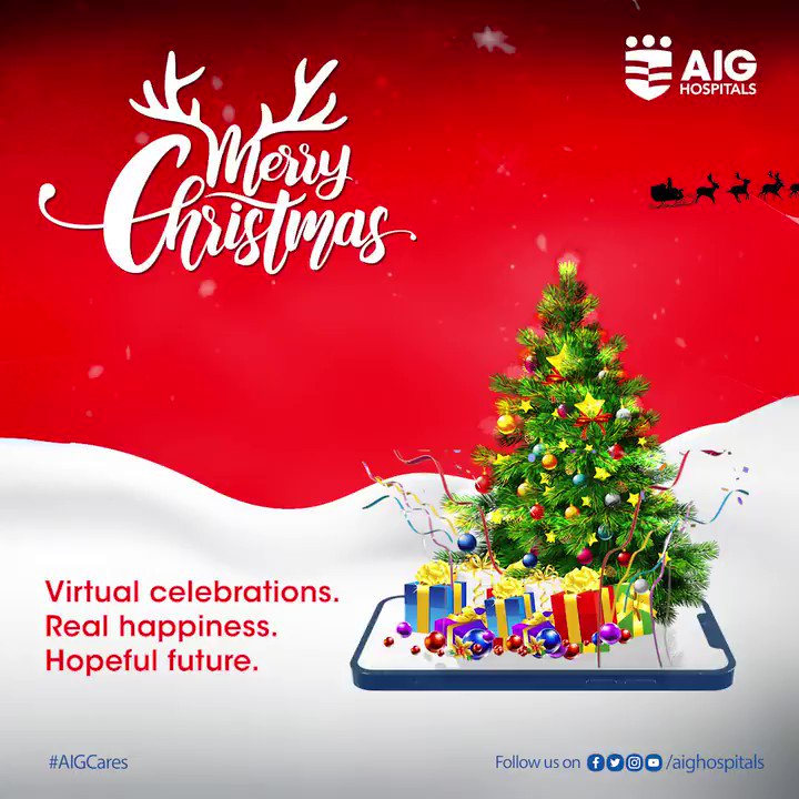 While #celebrating virtually, let's keep cultivating optimism and bring in happiness from newer avenues. MERRY CHRISTMAS!!!... . . . #AIGHospitals #AIGCares #christmas #christmas2020 #MerryXmas  #MerryChristmas