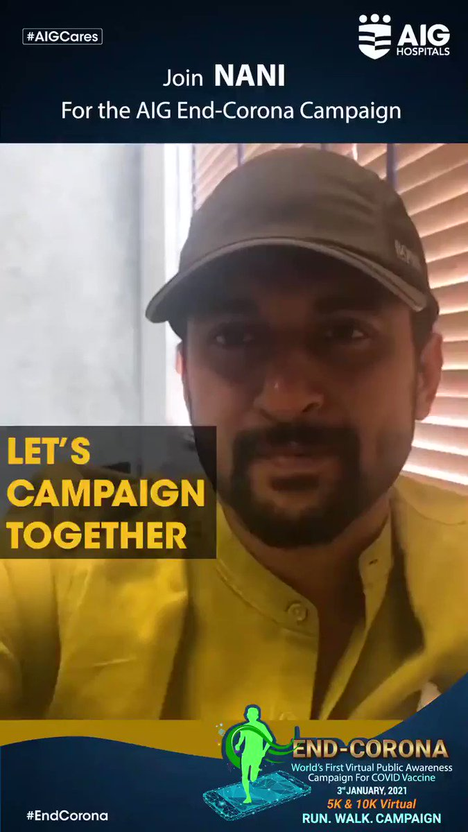 Extremely grateful to Natural Star @NameisNani for supporting AIG #EndCorona Virtual Campaign. Join him by clicking  and register for free! #COVID19 #COVID19InIndia #CovidVaccine #NaturalStarNani #Telugu