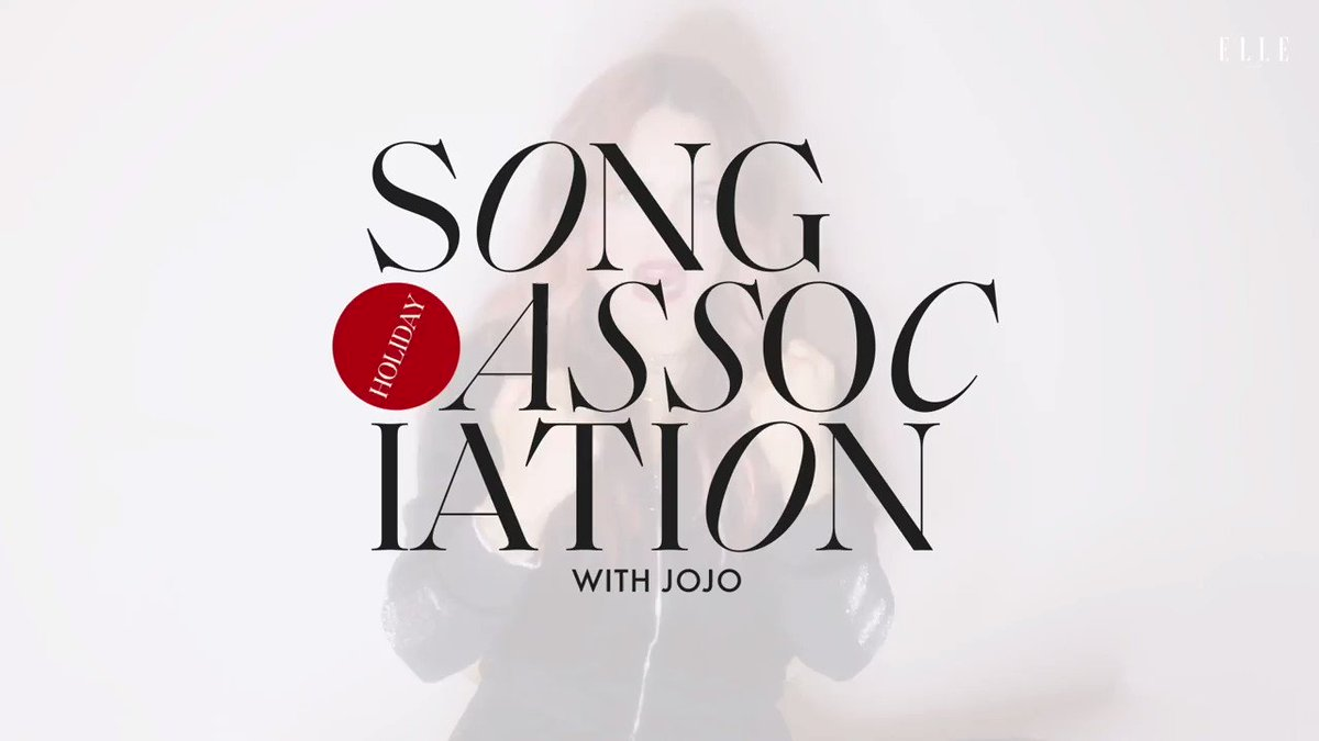 The lovely @iamjojo is back for more #SongAssociation with @ELLEmagazine Tune in as she sings some Christmas classics and some of her songs! ☃️  🎵: