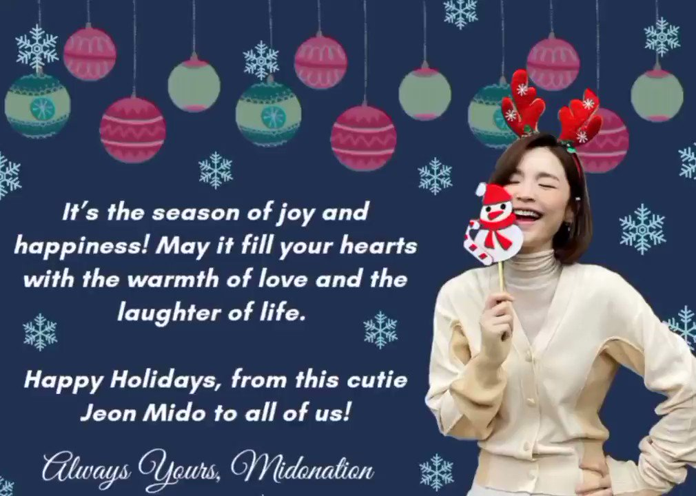 Happy Holidays to all of you and your loved ones! 💛 Stay warm and safe always! 🤗 Here's cutie Mido for everyone of us 🥰 #JeonMido #전미도