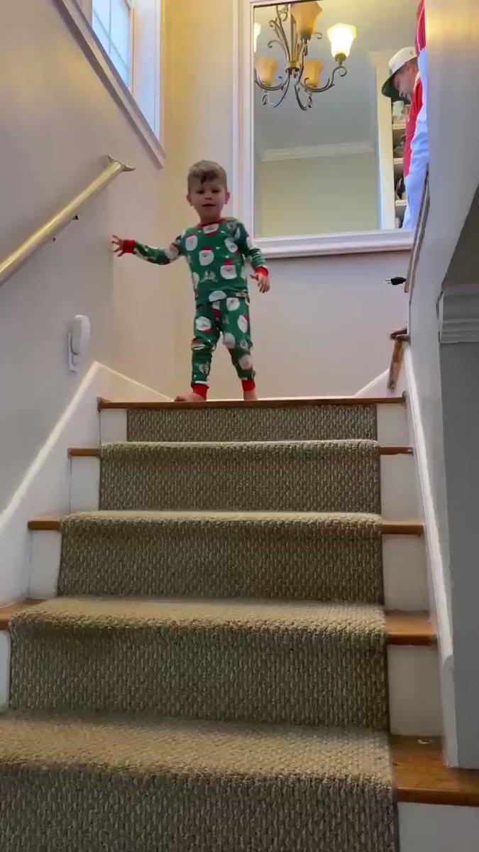 Only thing better than being a kid walking downstairs to see Santa's spoils, is watching your child walk those steps. Thanks to @PortalFacebook the grandparents didn't let 2020 miss the memories. @RexChapman @Baseballism @TipsyElves