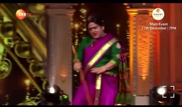 Kaamwali bai in lockdown 🧹 Zee rishtey award 7pm today @ZeeTV