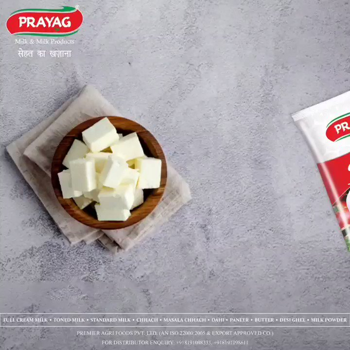 A lot of Taste and a whole lot of Nutrition!  Make your home cooked meals flavoursome and nutritious with Prayag Paneer!   *Prayag Paneer*  #paneer #tastyandhealthy #purity #freshness #healthfirst #prayag #prayagmilk #dairyproducts #Bareilly