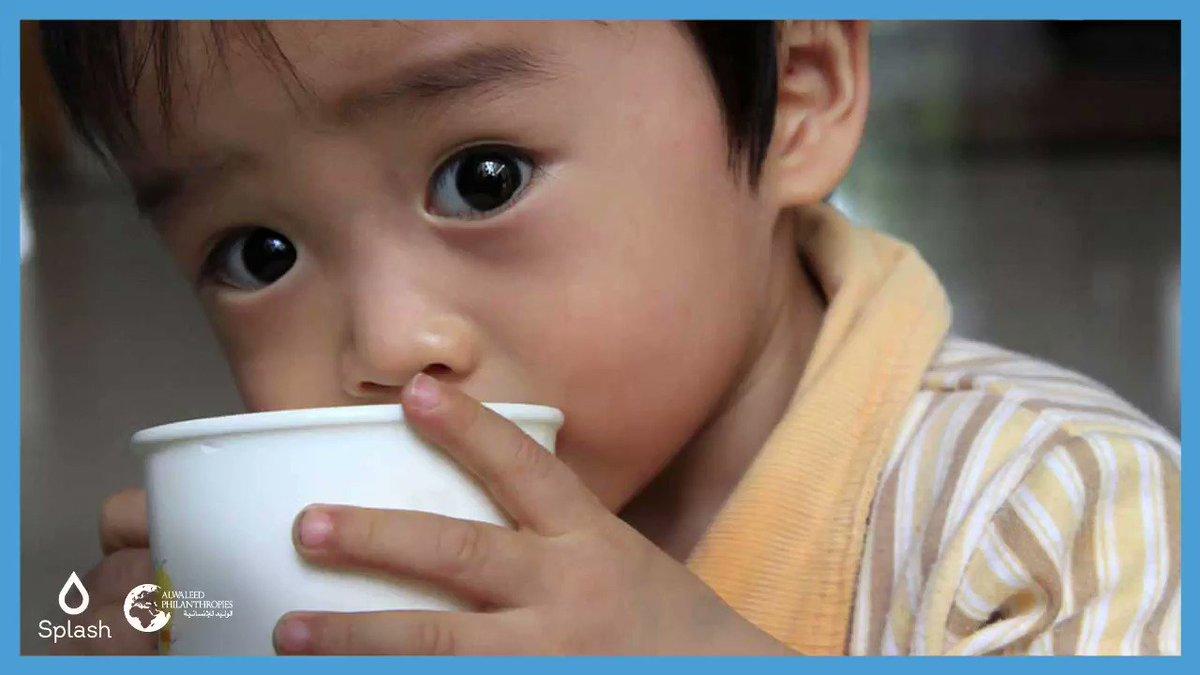 شهدت شراكتنا مع @splash_org في الصين توفير المياه الصالحة للشرب لأكثر من 90 ألف طفل في جميع دور رعاية الأيتام الحكومية عبر 32 مقاطعة في الصين. #معاً_من_أجل_الإحسان