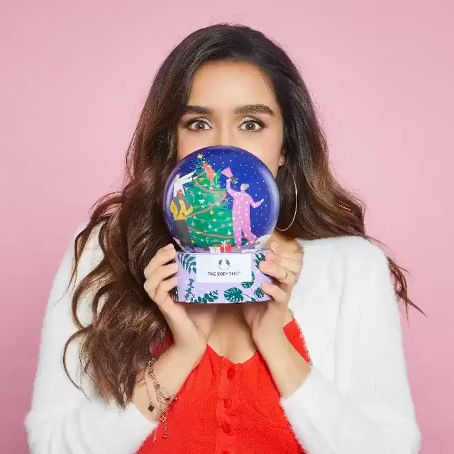 Reposted from @TheBodyShopIND Want to gift someone the entire world? This adorable Lather and Smooth Snow Globe Gift Dome will do just that!  @shraddhakapoor  #TheBodyShopIndia #TBSInd #ShraddhaKapoor #SnowGlobe #GiftBox