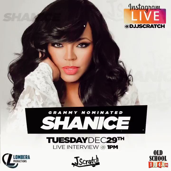 Happy to announce @shaniceonline will be live here on my Instagram tues Dec 29th at 1pm (pst)  . @shaniceonline  . @djjscratch  . @oldschool1047  . @lomberaproductions
