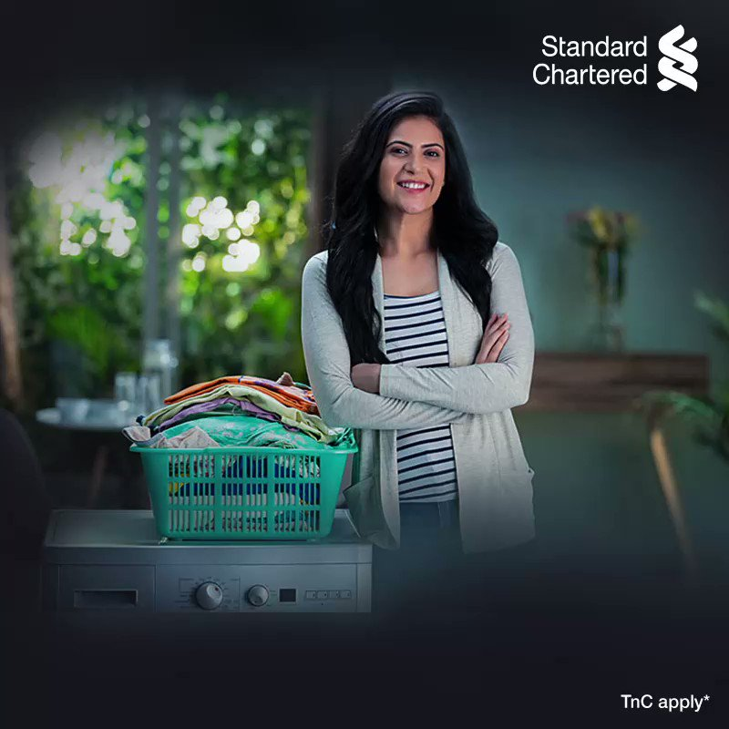 Unlock happiness this holiday season. Enjoy 10% cashback on Whirlpool appliances with Standard Chartered credit card.  Offer valid on EMI schemes till 31 Dec 2020. To know more,  #SeasonsOFFERings #StandardChartered