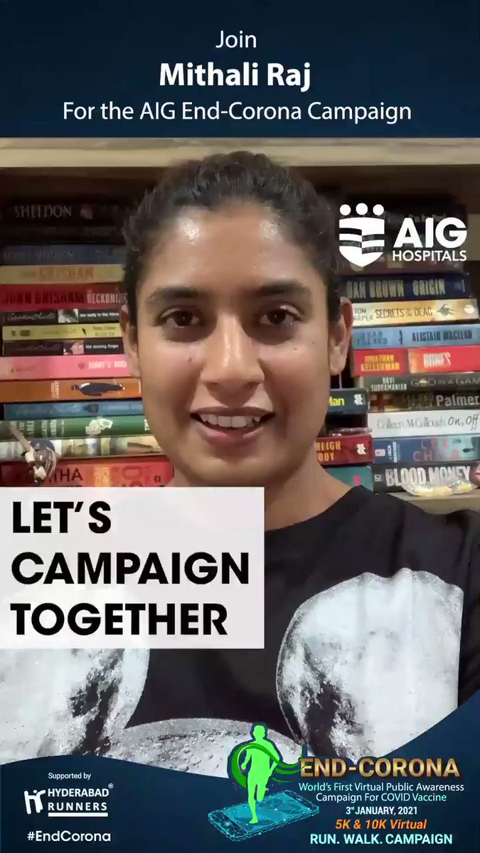 We feel privileged to have @M_Raj03 Mithali Raj's (Captain-Indian Women's Cricket Team) support for the AIG #EndCorona Virtual Campaign. Click  and register for free! #COVID19 #COVIDVaccine #COVID19inIndia