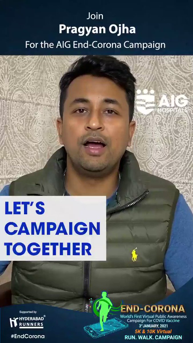 We are delighted to have @pragyanojha's support for the AIG #EndCorona Virtual Campaign. Click  and register for free! Join us for the biggest public awareness campaign on #COVIDVaccine. #COVID19 #COVID19inIndia