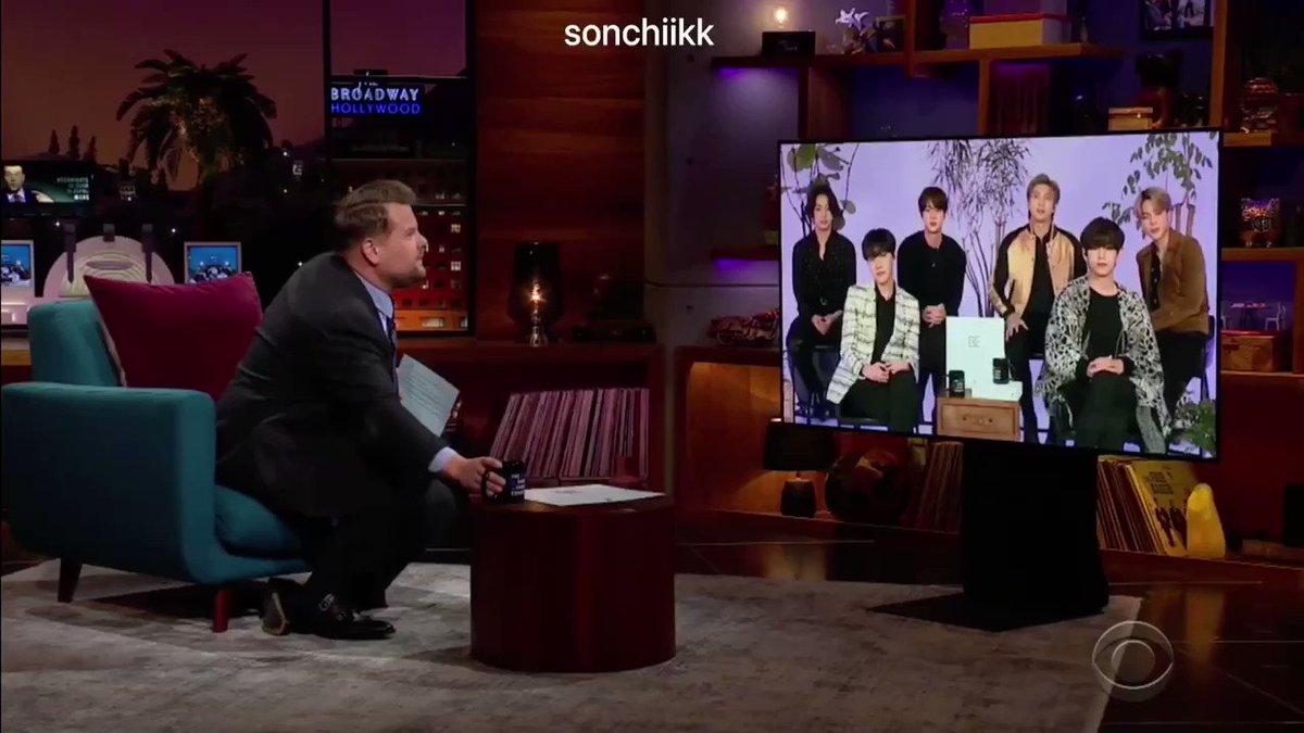 #BTSxCorden | #BTS_BE   Интервью после получения Грэмми у Джеймса Кордена💕 2 часть