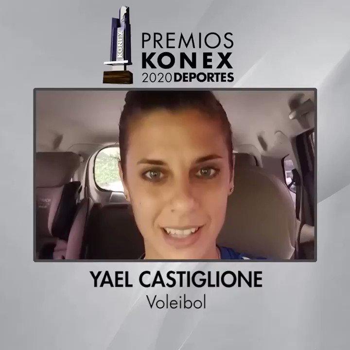 🏐 @CastiglioneYael fue ganadora del #PremioKonex 2020 como una de las mejores jugadoras de #Voleibol de la última década en la Argentina.   🏆Compartimos sus palabras tras recibir el Premio Konex 2020.  Aquí su biografía en nuestra web 👇