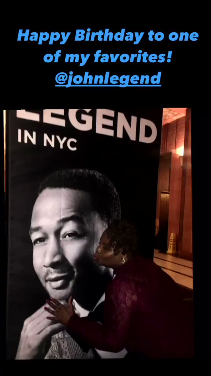 Screaming HAPPY BIRTHDAY from NYC to wherever you are in the world celebrating your birthday! Thank you for all your advocacy, exceptional music, laughter, and love! May we see more people show each other a #BiggerLove across the world in 2021 💕 Cheers @johnlegend! 🥂