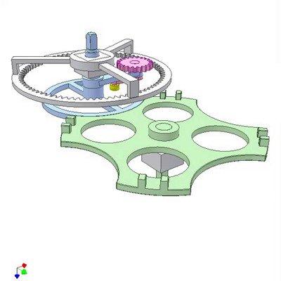 Internal Geneva and Epicyclic Gear Mechanism