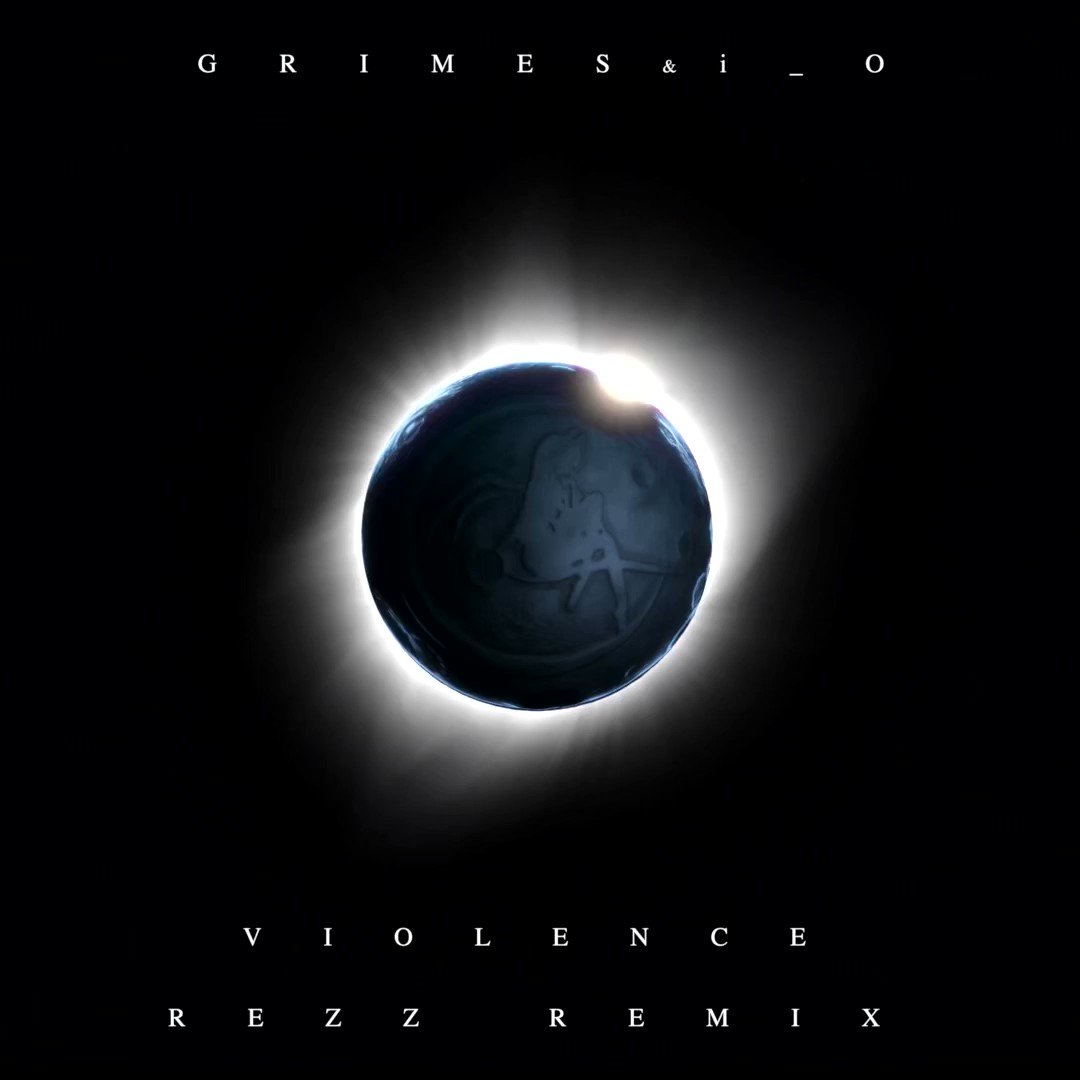 Grimes x i_o - violence (REZZ remix)  Out January 1st.