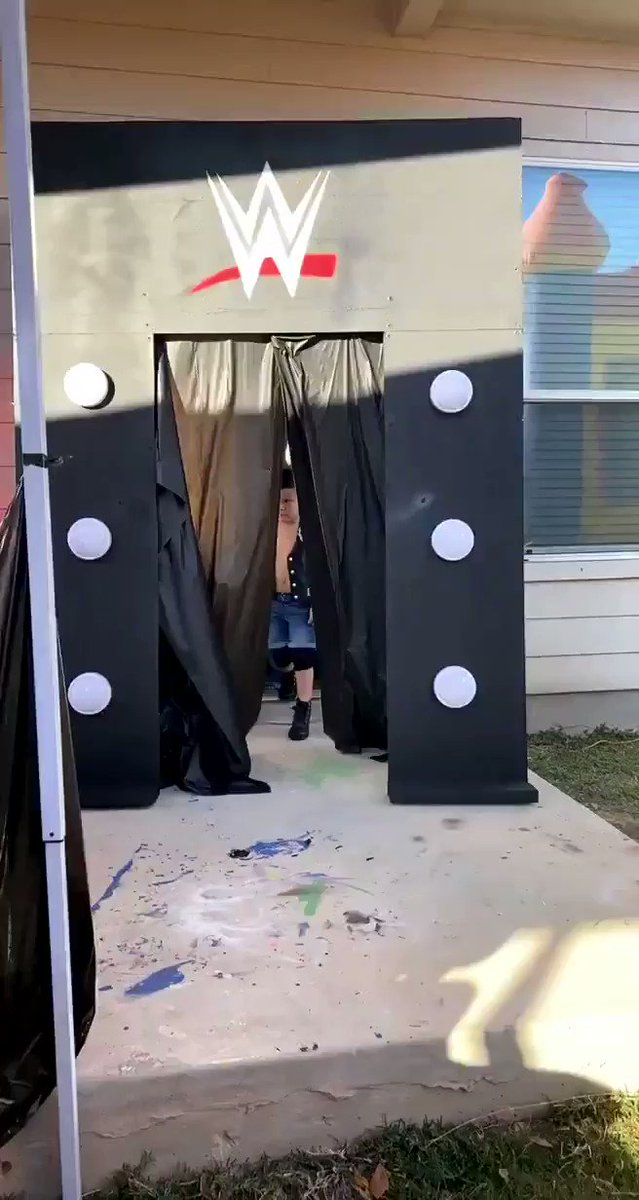 This little dudes birthday entrance was amazing! 💯😂 @steveaustinBSR   (Video credit: @Iceesis)
