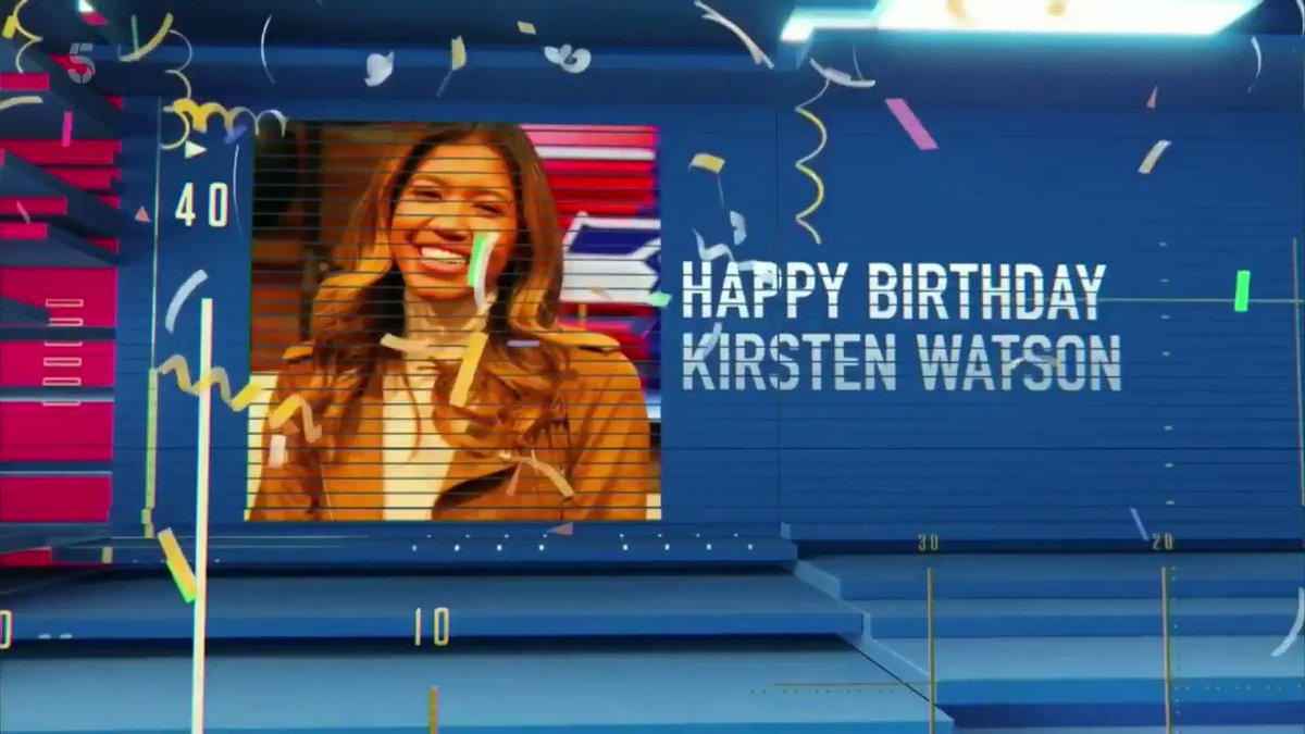 Happy birthday @kirsten_watson! 🎉  With a little help from @SamanthaQuek & @RLC! 😉  #C5MNF