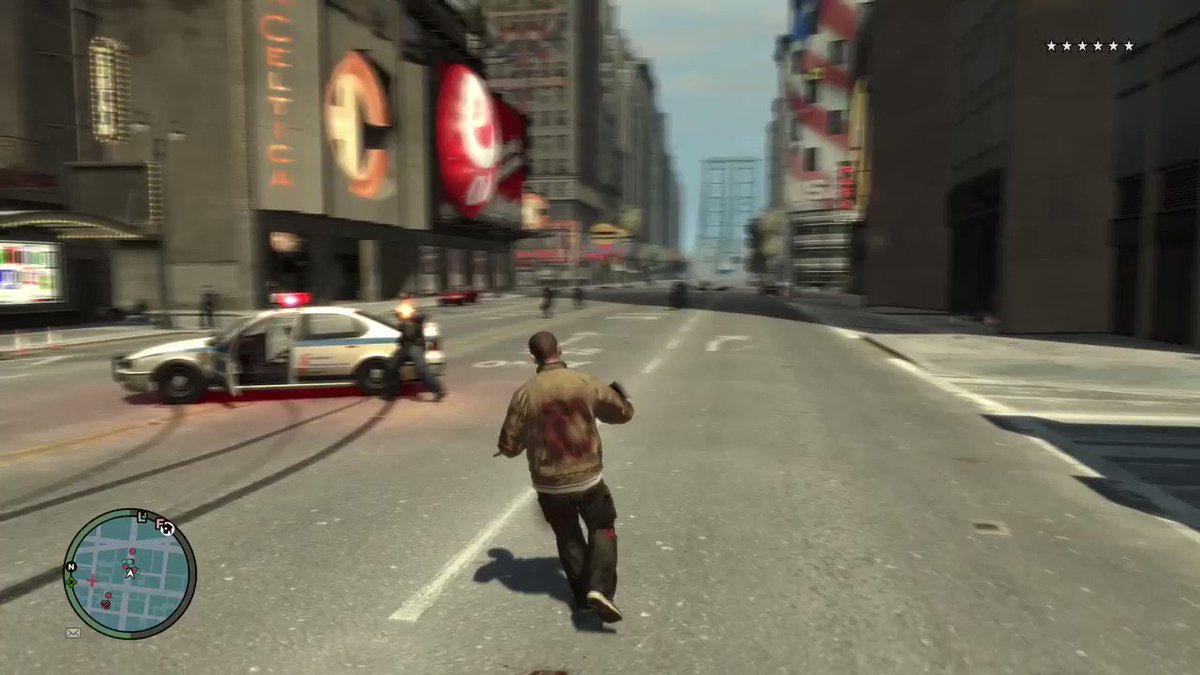 My God the Euphoria Physics engine in GTA 4 is still amazing and makes shooting on enemies (or Cops as shown in this video) feel so satisfying!  Body Physics is still better than almost all games from PS4/XB1 generation, this is a game from 2008. 🤣🤣🤣 https://t.co/UBnOjdklRE