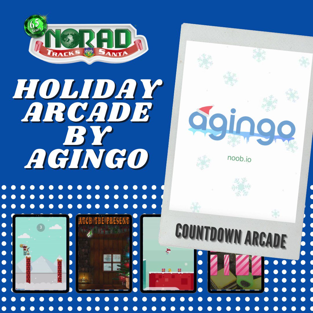 #NORADTracksSanta thanks @agingo for all of the holiday arcade countdown games this year. What were your 3 favorite games?