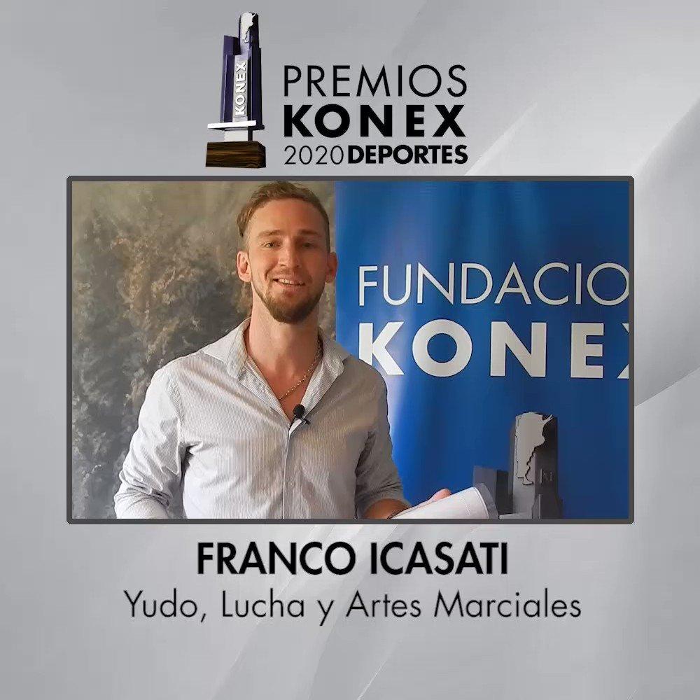 🤼Franco Icasati es el ganador del #PremioKonex 2020 en la disciplina Judo, Lucha y Artes Marciales.  🏆Compartimos sus palabras tras recibir el Premio Konex 2020.  Aquí su biografía en nuestra web 👇   #Karate #artesmarciales #Icasati #Argentina