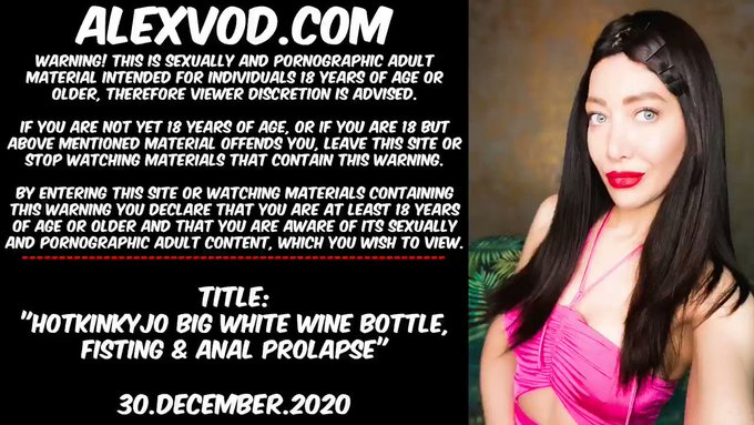 Warning This tweet contains porn & is adults only!  Big bottle for New Year at AlexVod: https://t.co/eDGWsUSAII