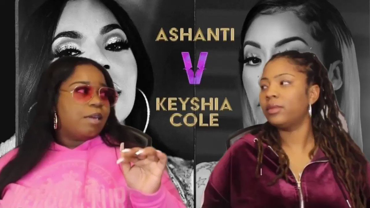 #Verzuz  tonight make sure y'all watch our Verzuz video. Who y'all got? Keyshia or Ashanti?