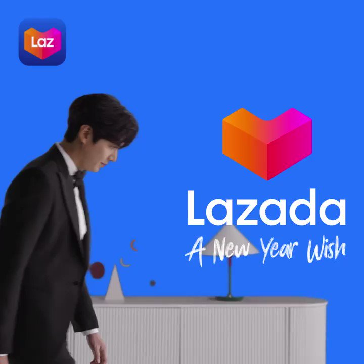 Here's to a new year filled with hope and wishes coming true—from your Lazada family and our Regional Brand Ambassador Lee Min Ho. 💙 #LazadaxLMH #LeeMinHo #LazadaPH