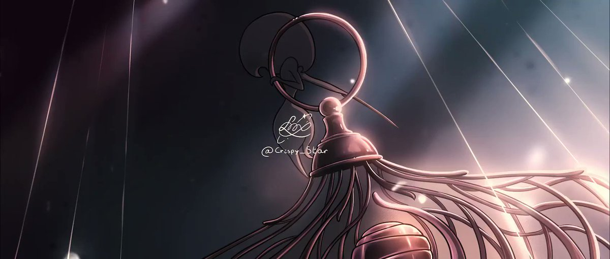 Don't mind me manifesting my huge hype for @TeamCherryGames' Hollow Knight: Silksong with this little fan animation🕷️✨!