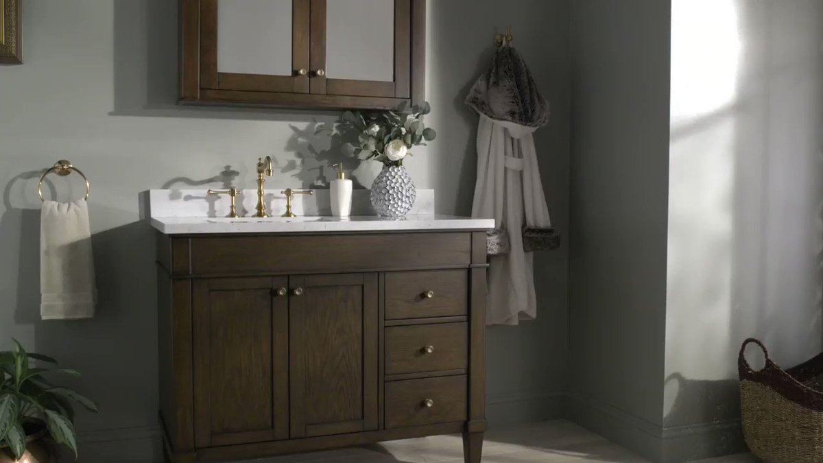 Casual yet refined, the Trossman vanity unites practical beauty with modern functions like ample storage soft-closing doors. Make it wholly yours with your choice of faucet, countertop, and finishes in antique coffee or white oak. Shop the collection: https://t.co/QFEKXIPAGE https://t.co/0b2y0tIbAm