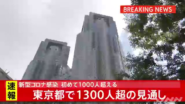#新型コロナウイルス について、東京都できょう、新規感染者が1300人を超える見通しであることがわかった。一日あたりの感染発表が1000人を超えるのは初めてで、過去最多だった12月26日の949人を大幅に上回ることに。