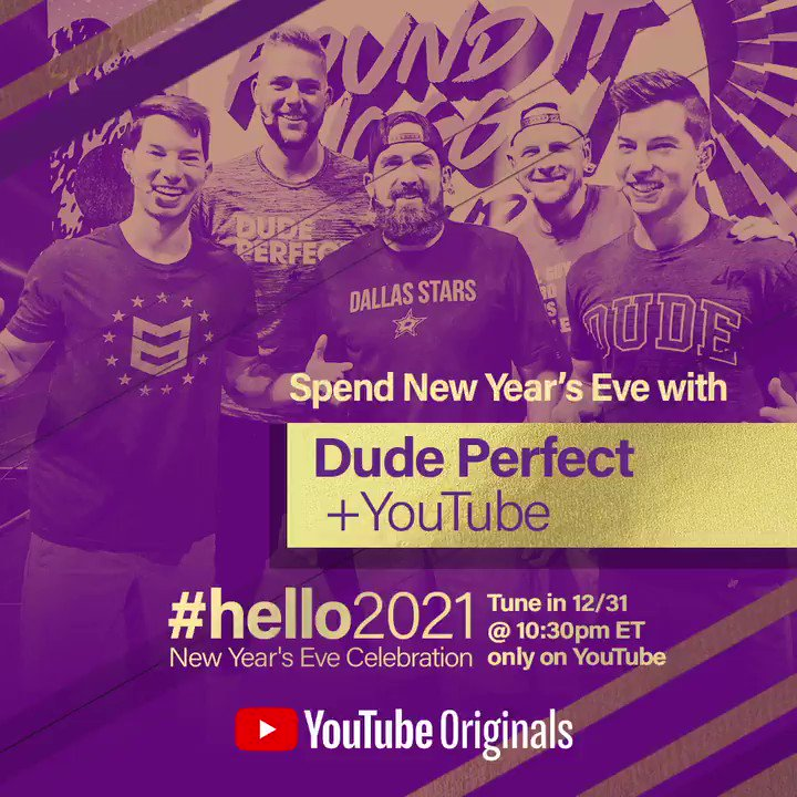 Tonight's the night! 🥳  Ring in the New Year with us and @YouTube in #hello2021 👉   #YouTubeNYE