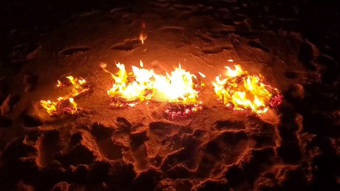 Spent my NYE on a magical moonlit beach and in Burner fashion, had to say goodbye to the dumpster fire