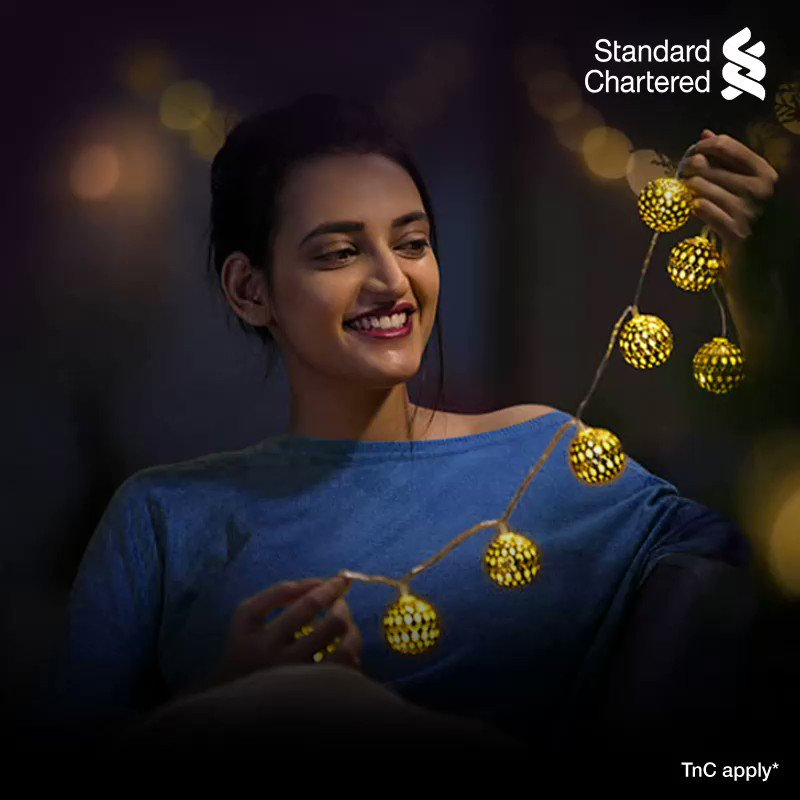 One more reason to celebrate the new year! Use your Standard Chartered credit & debit cards to buy products on Myntra and get an assured 10% off instantly. Offer valid on Thursdays till 31 Jan 2021. To know more,  #SeasonsOFFERings #StandardChartered