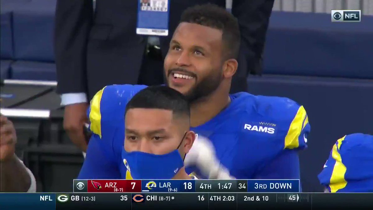 Replying to @RamsNFL: Mood 😄 @AaronDonald97