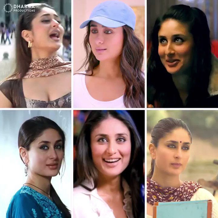The charm and versatility of #KareenaKapoorKhan all in one place! 😍  #KabhiKhushiKabhieGham #EkMainAurEkkTu #Kurbaan #GoriTerPyaarMein #WeAreFamily #GoodNewwz #K3G #EMAET #GN