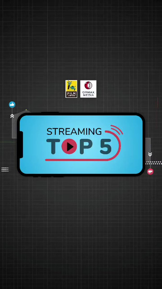 Streaming Top 5 - powered by @OrmaxMedia. Here's a list of the most-viewed Hindi shows and movies from the streaming space of last week. Which one's your favourite? #Paurushpur #AKvsAK #TheMissingStone #CoolieNo1 #CriminalJustice